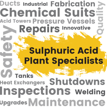Sulphuric acid plant text effect